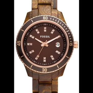Fossil watch with rose gold detailing